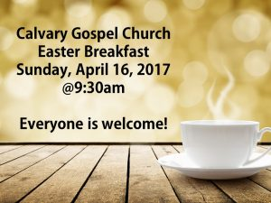 Easter Breakfast Announcement - Facebook